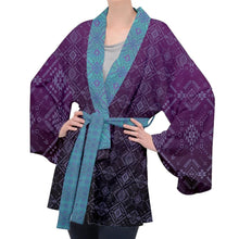 Load image into Gallery viewer, Aztek Owl Velvet Kimono Robe
