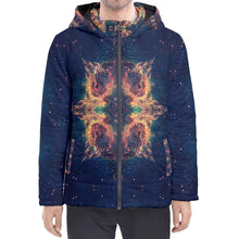 Load image into Gallery viewer, Chakra Nebula Hooded Puffer Jacket