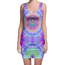 Load image into Gallery viewer, Purple Sunflower Stealie Bodycon Dress