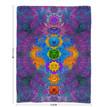 Load image into Gallery viewer, Chakra Awakening Sherpa Blanket