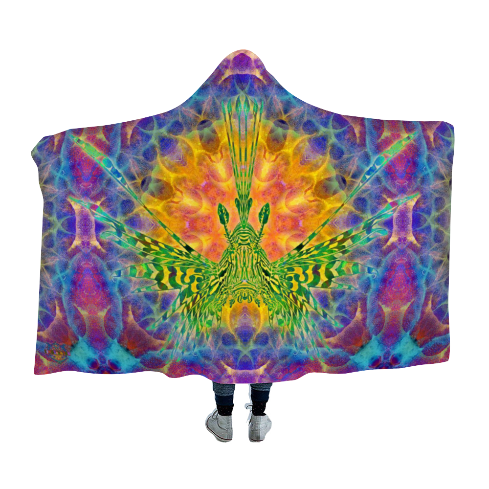 Lionfish Sunrise Hooded Blanket Cloak