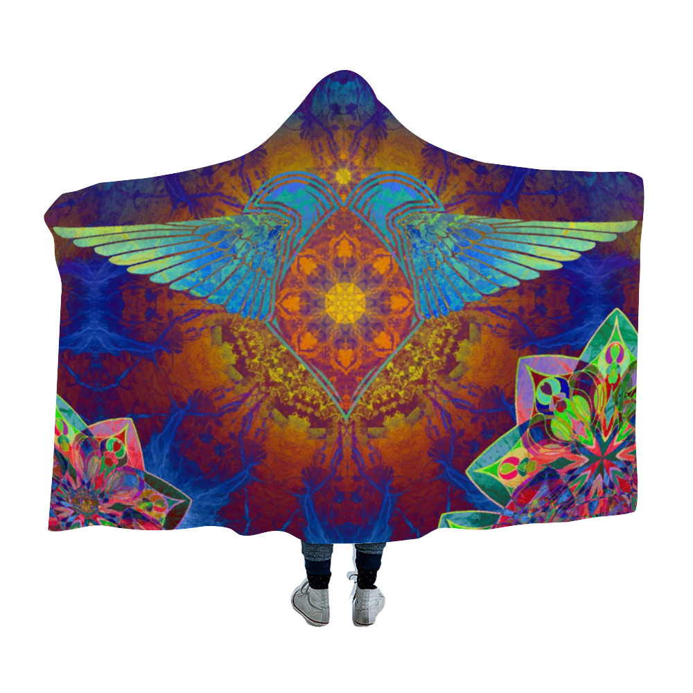 Soaring Heart Hooded Blanket