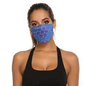 Flower of Life Honeycomb Face Mask w/ 2 Filters