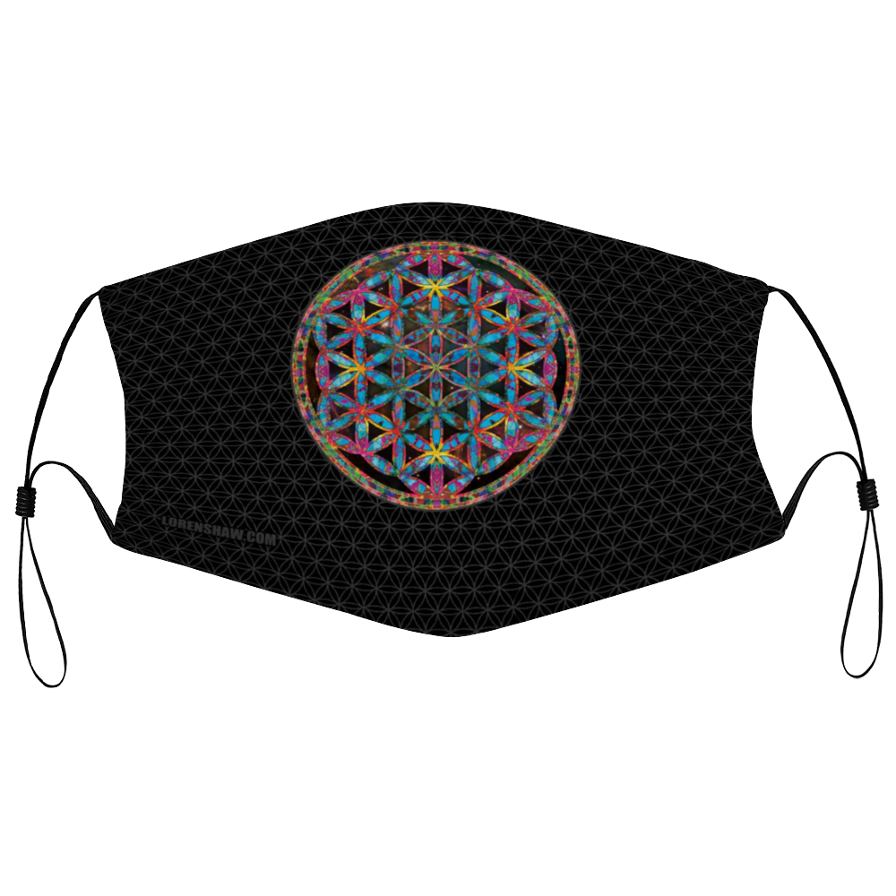 Flower of Life Knight Face Mask w/ 2 Filters