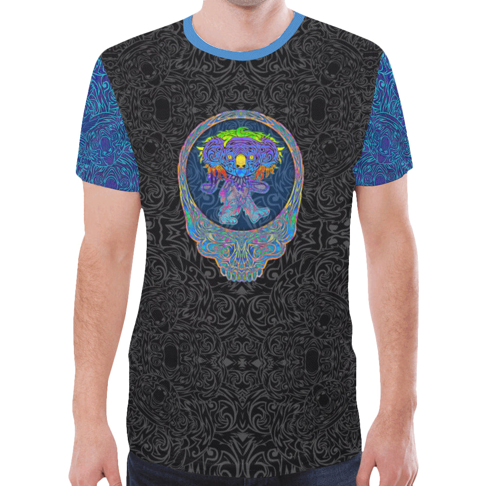 Dancing Blue Koala Men's Mesh Tee Shirt