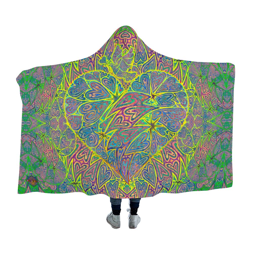 Love is the Answer Hooded Blanket Cloak