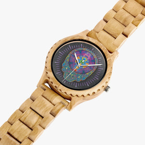 Chakra Stealie Wood Watch