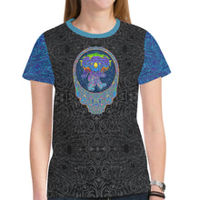 Load image into Gallery viewer, Dancing Blue Koala Women's Mesh Tee Shirt