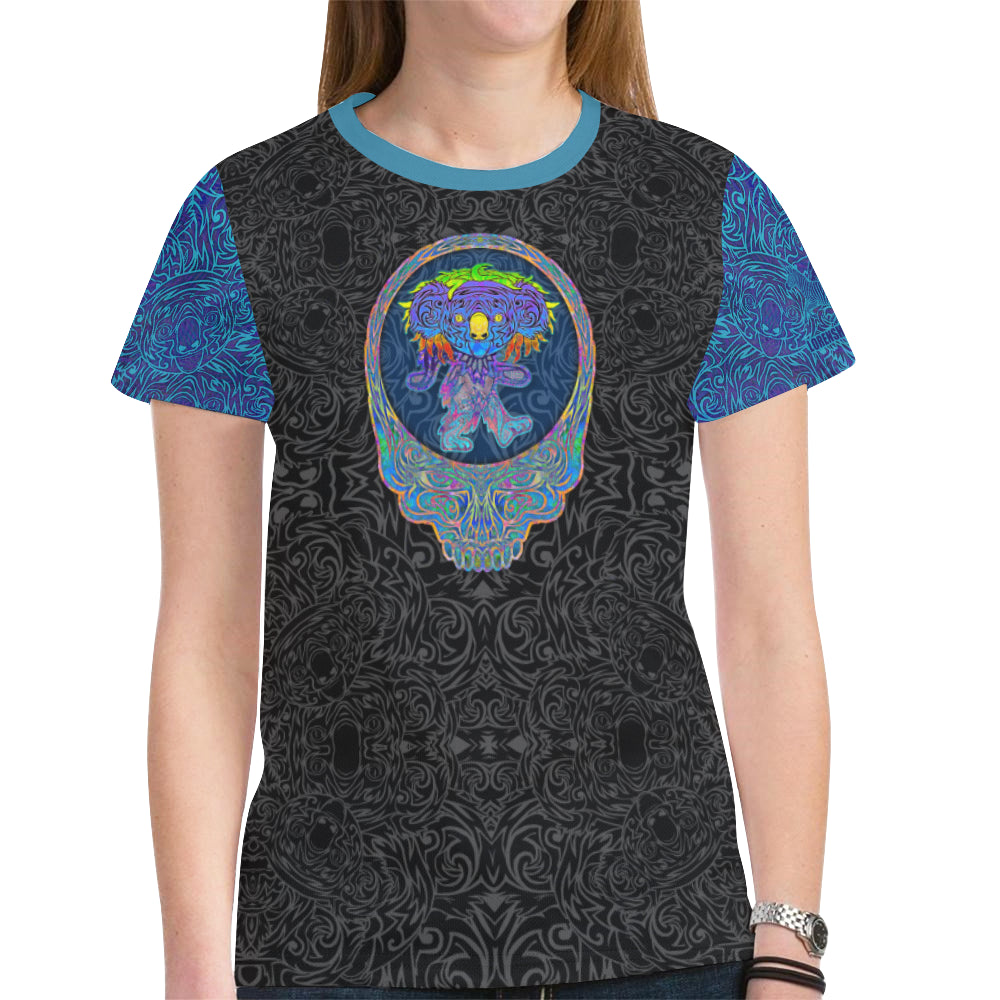 Dancing Blue Koala Women's Mesh Tee Shirt