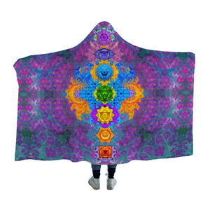 Chakra Awakening Hooded Blanket Cloak