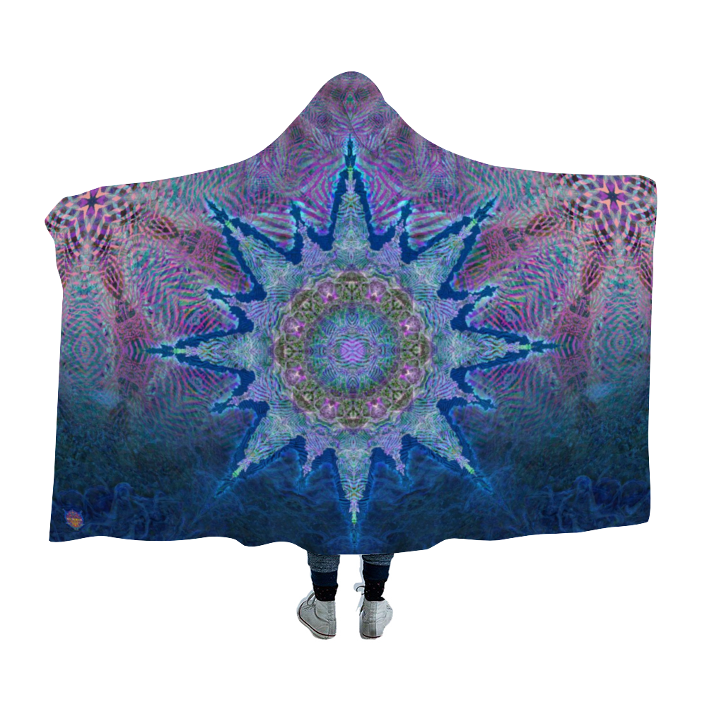Atlas Zebra Mandala Hooded Blanket Cloak