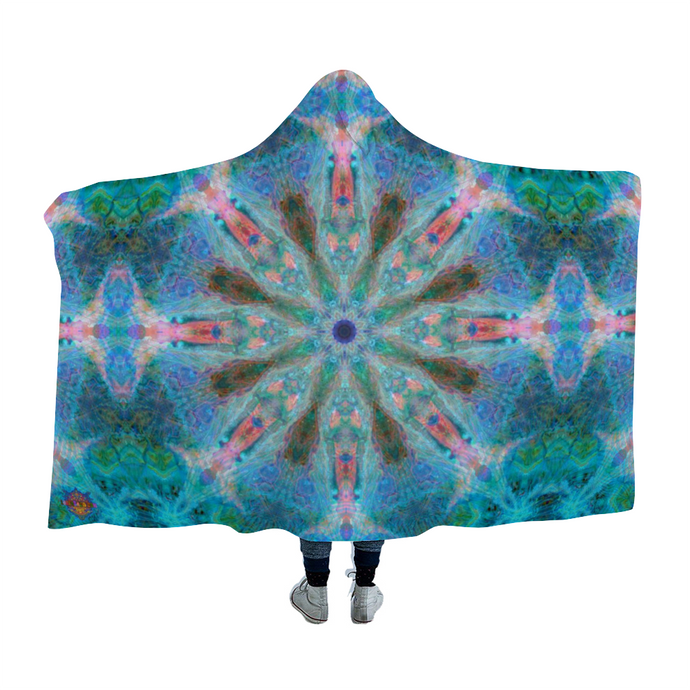 Atlas Mandala Hooded Blanket