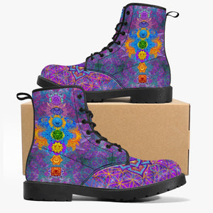 Chakra Awakening Leather Boots