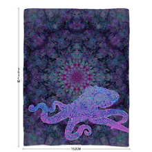 Load image into Gallery viewer, Purple Octopus Sherpa Blanket