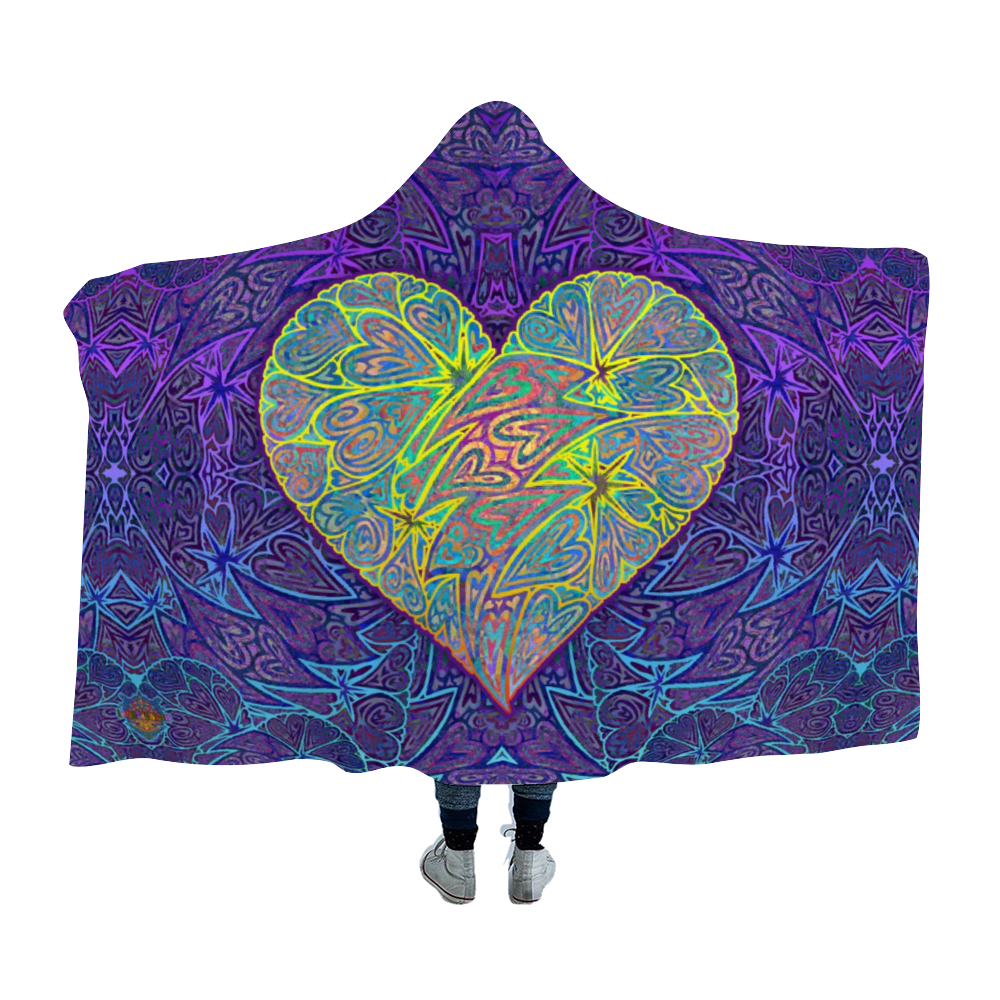 Heart of Gold Hooded Blanket Cloak