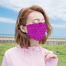 Load image into Gallery viewer, Pink Flower of Life Face Mask w/ 2 Filters