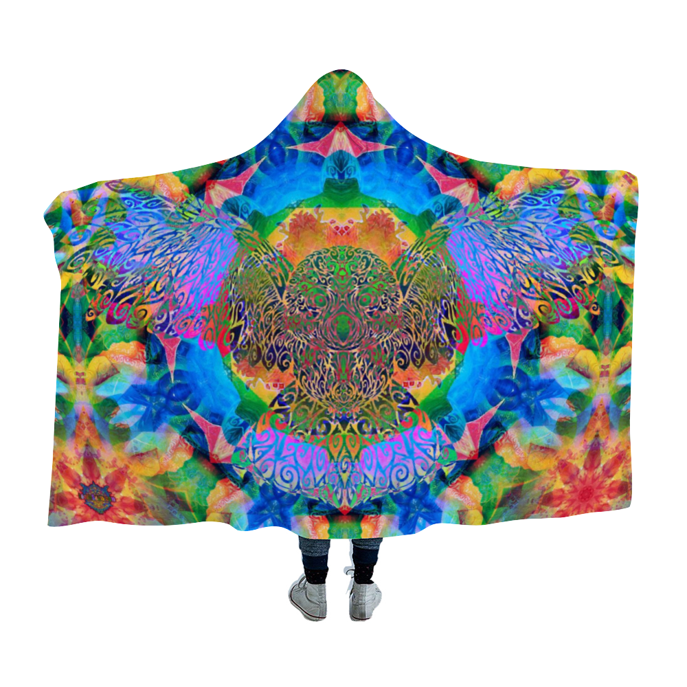 Owl Medicine Hooded Blanket Cloak