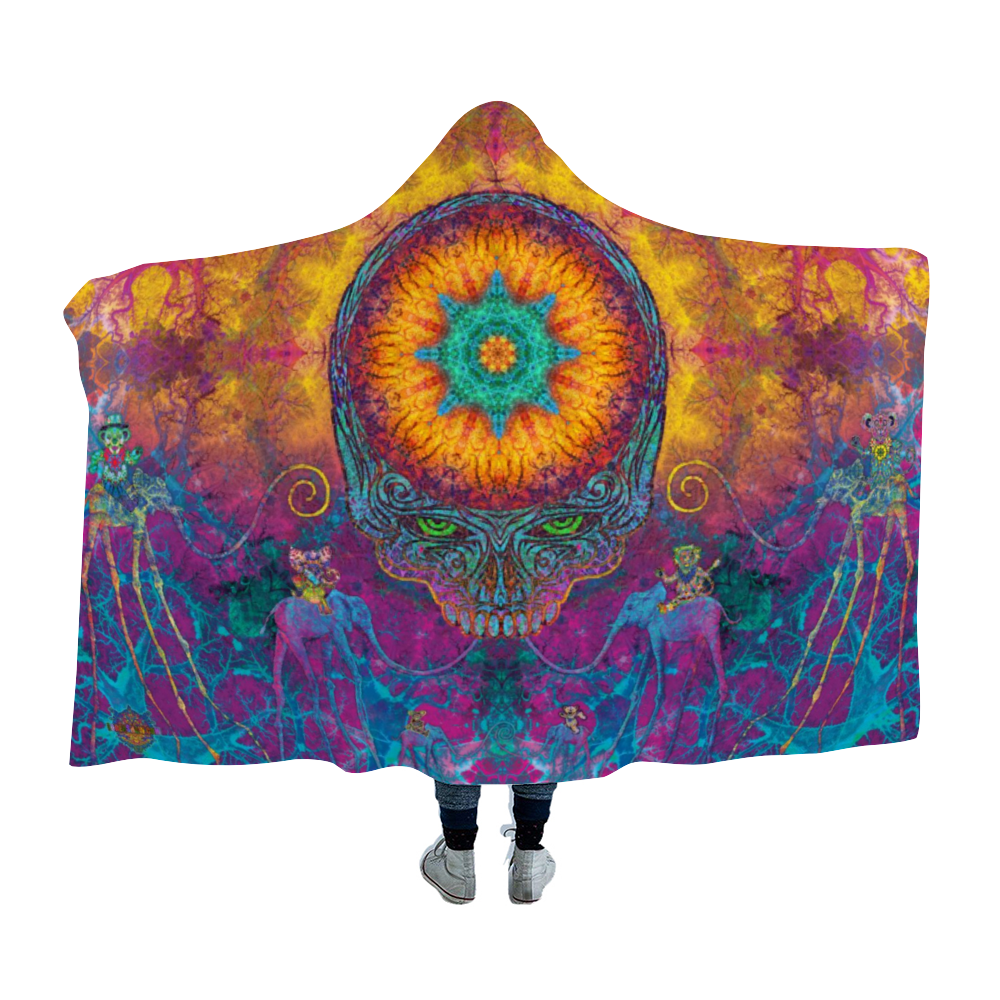 Grateful Dali Stealie Hooded Blanket Cloak