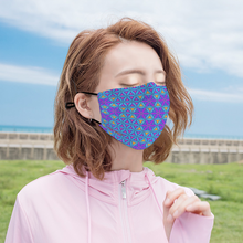 Load image into Gallery viewer, Flower of Life Honeycomb Face Mask w/ 2 Filters