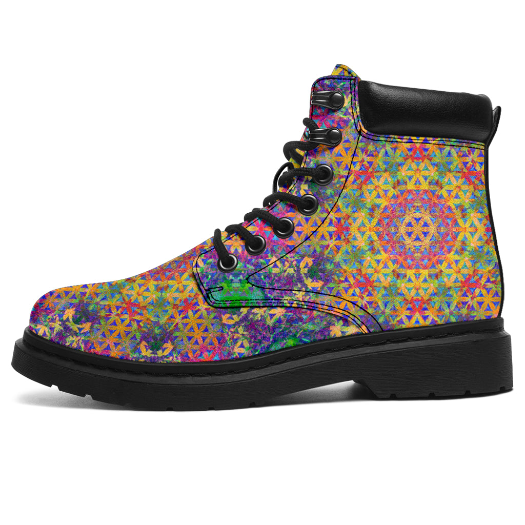 Flower of Life Rainbow Boots