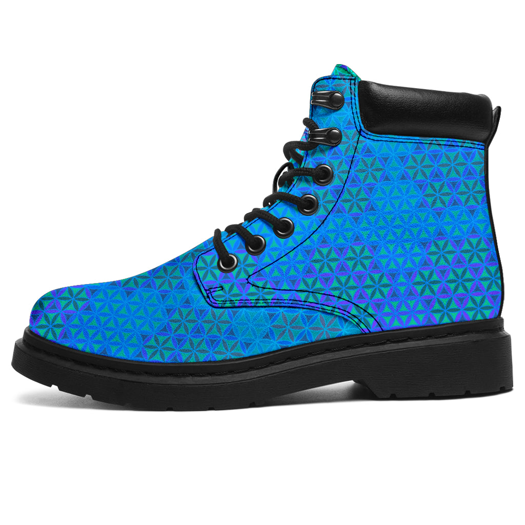 Flower of Life Azul Boots 2