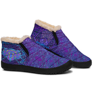 Violet Koala Winter Sneakers