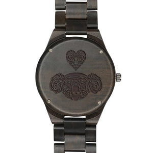Koala Love Wood Watch