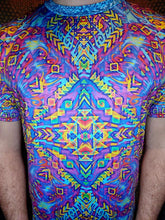 Load image into Gallery viewer, Psychedelic Aztec Spandex Tee