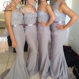 Sexy Bridesmaid Dresses Trumpet/Mermaid Short Train Lavender Bridesmaid Dresses KPB0003