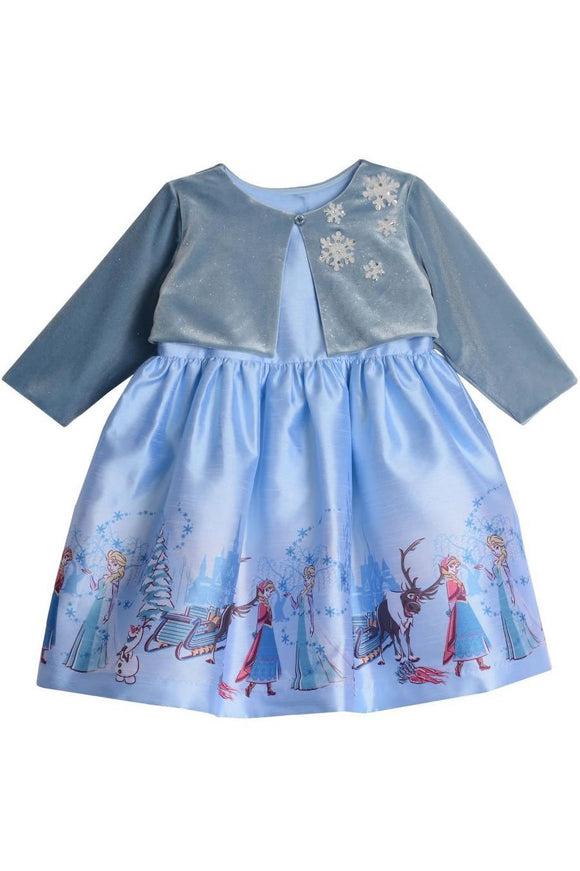 Disney X Pippa & Julie Elsa Border Print Dress KPF0006