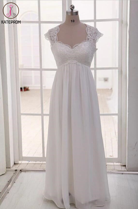 Empire See Through Sweetheart Maternity Bridal Wedding Gowns KPW0007