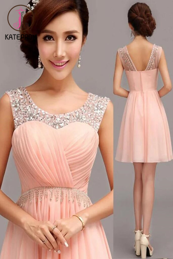 A-Line Chiffon Short Prom Dress Homecoming Dress KPH0045