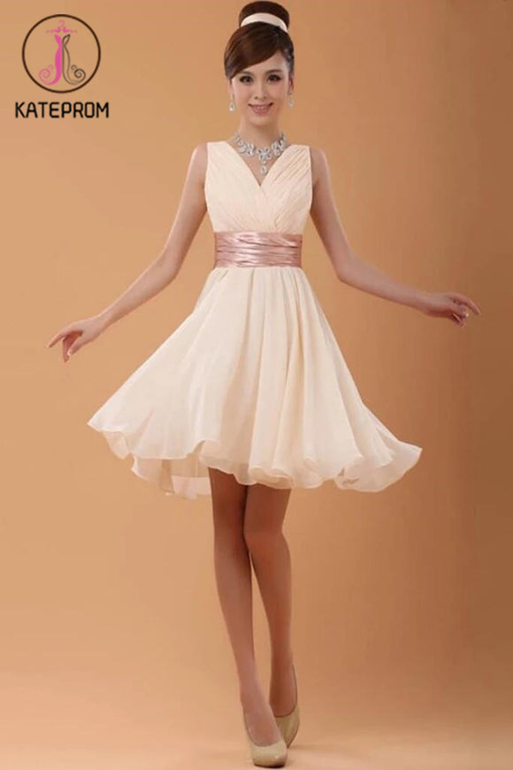 Charming V-Neck Short Prom Dress Homecoming Dress KPH0047