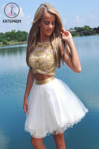 Two Pieces Short/Mini Prom Dress Homecoming Dress KPH0049