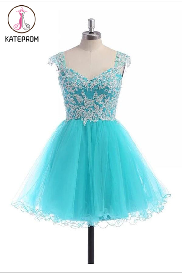 Lace V-neckline Prom Dress Homecoming Dresses With Straps KPH0057
