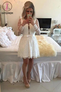 Fit Lace Sleeve Strap Prom Dress Homecoming Dresses KPH0060