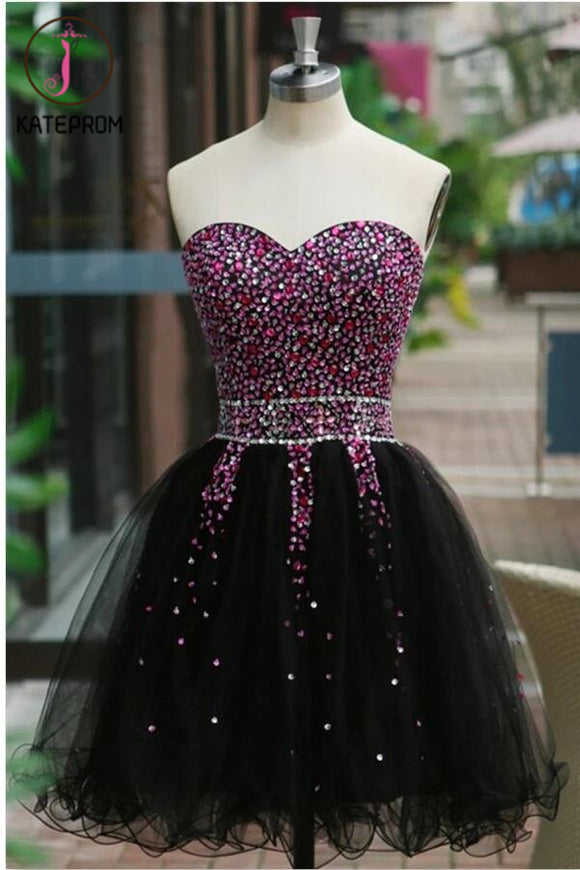 Sexy Sequins Beaded Sweetheart Prom Dress Homecoming Dress KPH0070