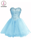 Baby Blue SweetHeart Orangza Homecoming Dress Graduation Gown KPH0074