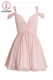 Ruched Chiffon Sweetheart Homecoming Dresses Prom Dresses KPH0077