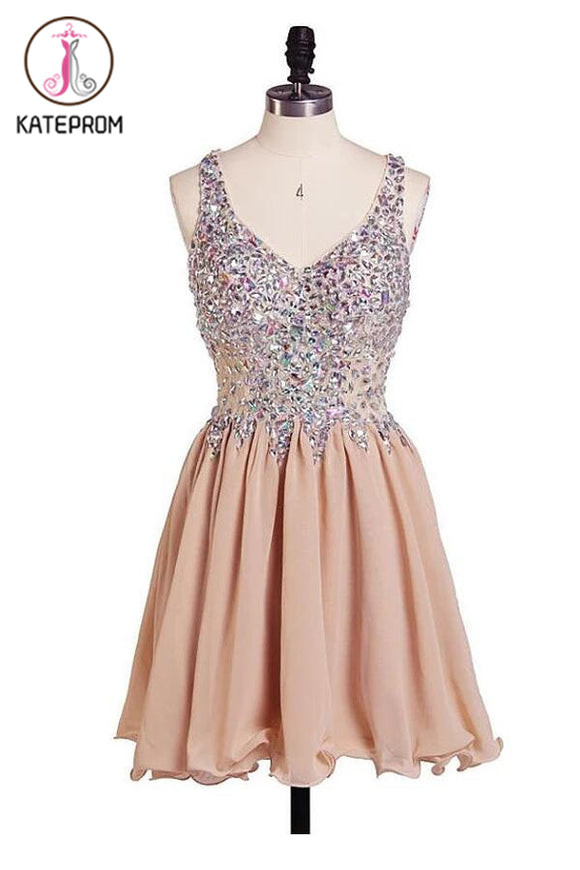Charming Chiffon Sweetheart Prom Dresses Homecoming Dresses KPH0088