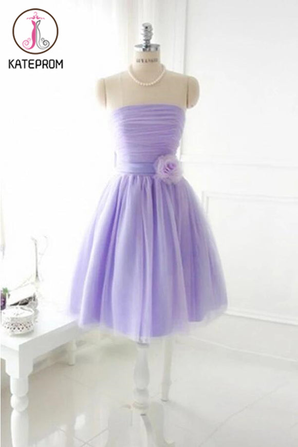 Elegant Strapless Tulle Prom Dresses Homecoming Dresses KPH0090