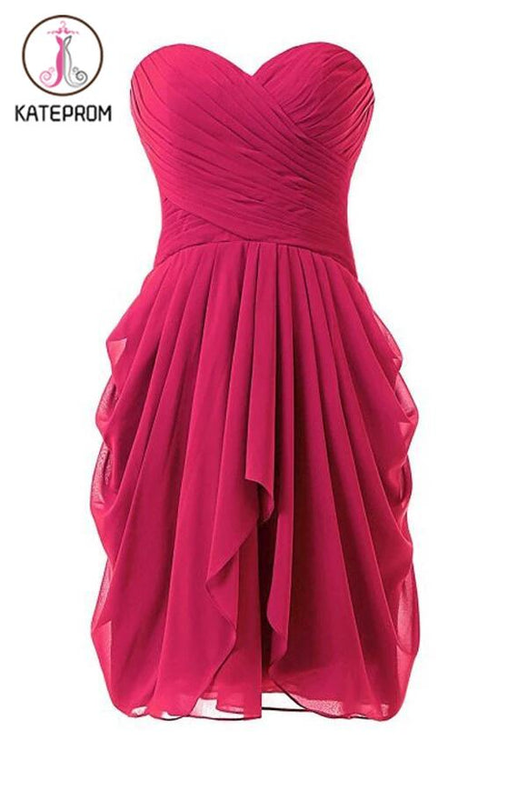 Hot Pink Chiffon New Star Prom Dresses Homecoming Dresses KPH0098
