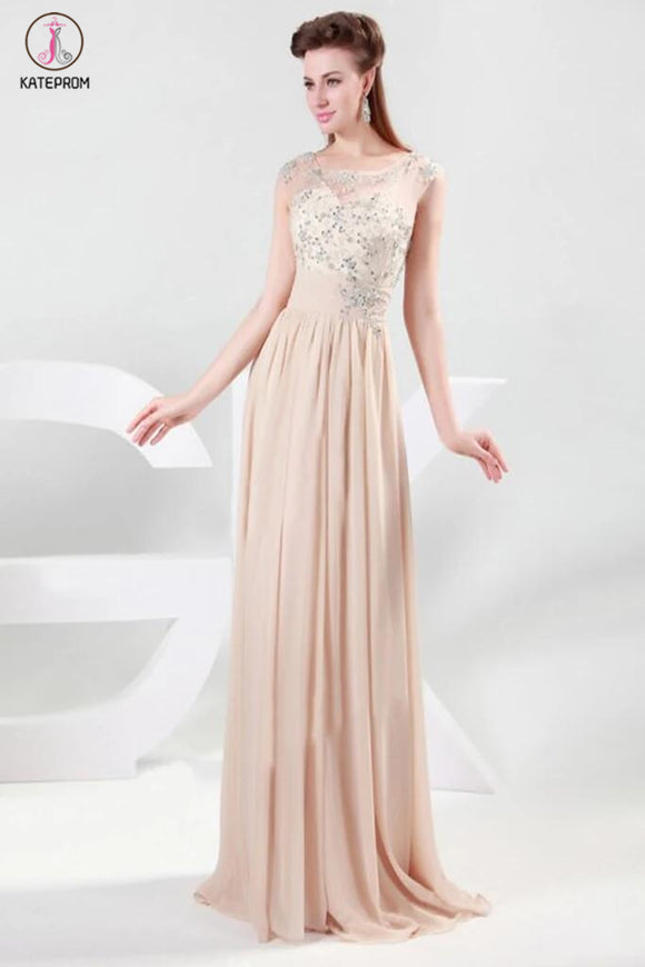 Charming Chiffon Long Prom Dress Evening Dress KPP0091