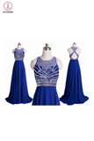 Real Made Royal Blue Long Prom Dress Evening Dress KPP0097