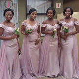 New Hot Mermaid Bridesmaid Dresses For Wedding, Memaid Maid Of Honor Gowns KPB0184