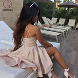 Sexy A-Line Short V-Neck Sleeveless Mini Cocktail Dress,Straps Homecoming Dress KPH0162