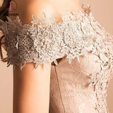Lace Appliqued Off-the-shoulder Tulle Homecoming Dress with Beads,Prom Dress Party Dress KPH0203