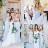 Sexy Cheap Light Blue Mismatched Different Styles Chiffon Bridesmaid Dresses KPB0068