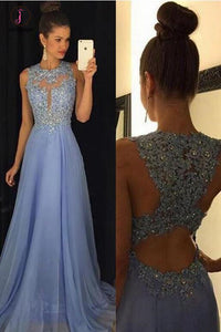 Cheap Lavender A-line Sleeveless Chiffon Prom Dress with Lace Rhinestone KPP0432