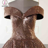 Luxury Sparkly Ball Gown Dresses Ombre Sequins Floor Length Prom Evening Dresses KPP0633